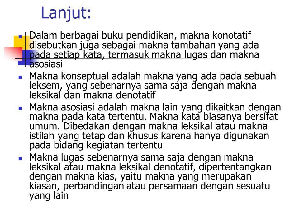 Relasi makna dalam bahasa Indonesia Relasi Sinonim dan antonim 1.
