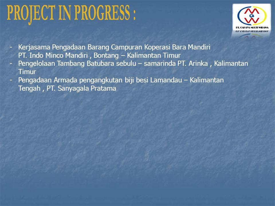 -Kerjasama Pengadaan Barang Campuran Koperasi Bara Mandiri PT. Indo Minco Mandiri, Bontang – Kalimantan Timur -Pengelolaan Tambang Batubara sebulu – s