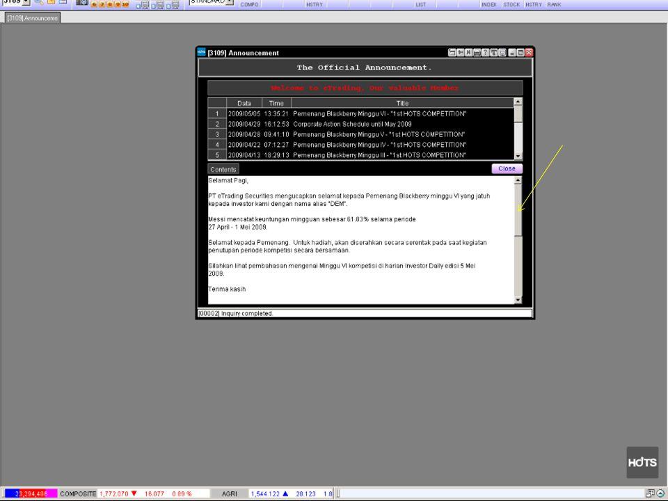 LANGKAH MENGGUNAKAN SYSTEM HOTS / Web Trading System