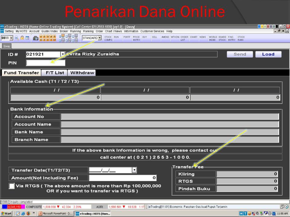 Menu Order List (Cek Order)