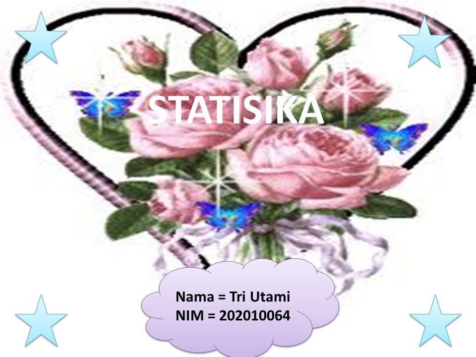 STATISIKA Nama = Tri Utami NIM = 202010064 Nama = Tri Utami NIM = 202010064