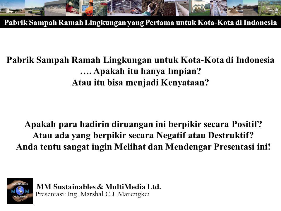 Pabrik Sampah Ramah Lingkungan yang Pertama untuk Kota-Kota di Indonesia Bagaimana keadaannya sekarang dimana-mana di Indonesia.