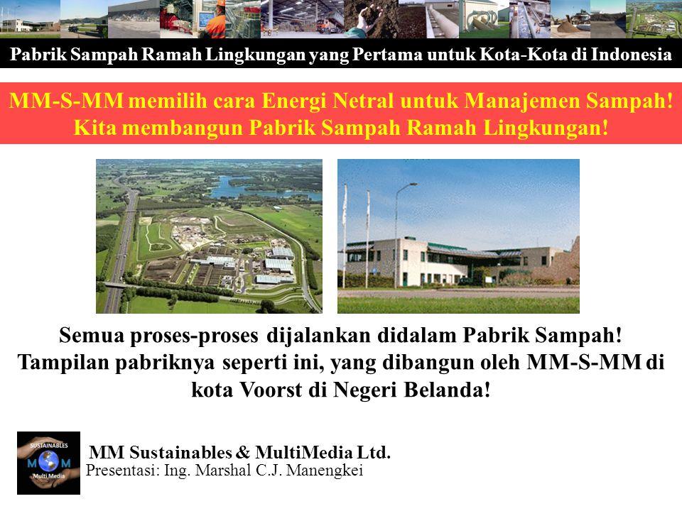 Pabrik Sampah Ramah Lingkungan yang Pertama untuk Kota-Kota di Indonesia MM-S-MM membedakan dua tahap pembangunan: Tahap 3R Tahap Waste2Energy MM-S-MM memperkembangkan Task Force sebagai berikut untuk memperkembangkan Parik Sampah Ramah Lingkungan ini: Task Force Utama (MM-S-MM + Sub-Konsultan) Task Force Sub (Kontraktor Lokal) MM-S-MM memimpin proyek dan membuat Studi Kelayakan Sub Team bisa ikut sebagian atau seluruhnya Presentasi: Ing.