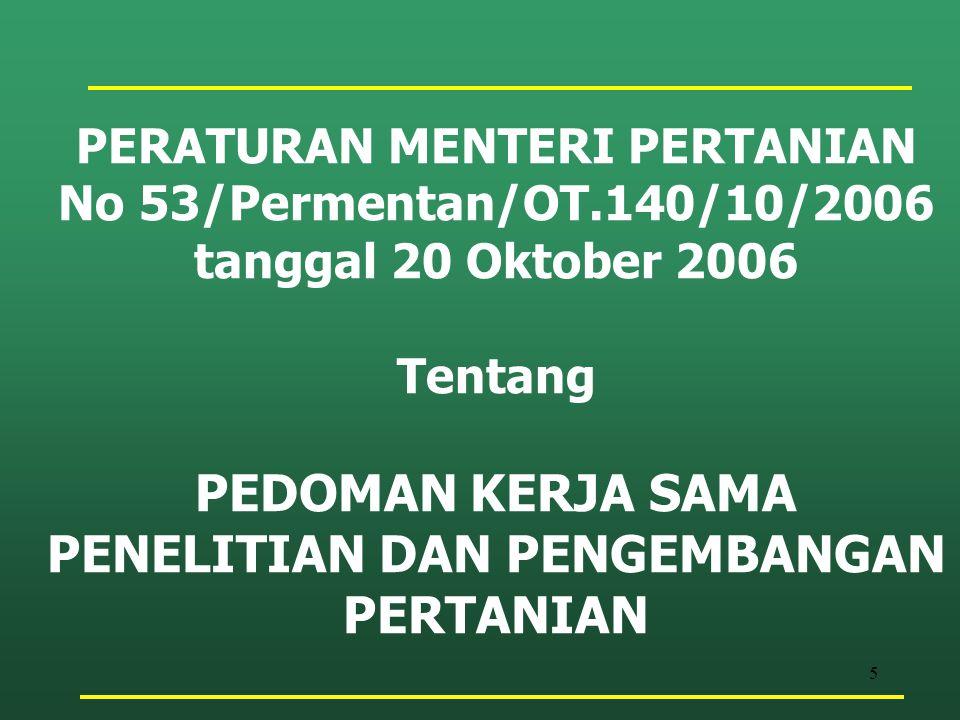 46 Mitra KerjasamaFormat Kerjasama lembaga internasional yang akan melibatkan penempatan tenaga ahli dalam jangka panjang dan/pemberian peralatan dalam jumlah besar dan atau memerlukan sistem pengendalian yang ketat secara politis dan atau lembaga internasional yang mempunyai kantor perwakilan di Indonesia Format Setneg.