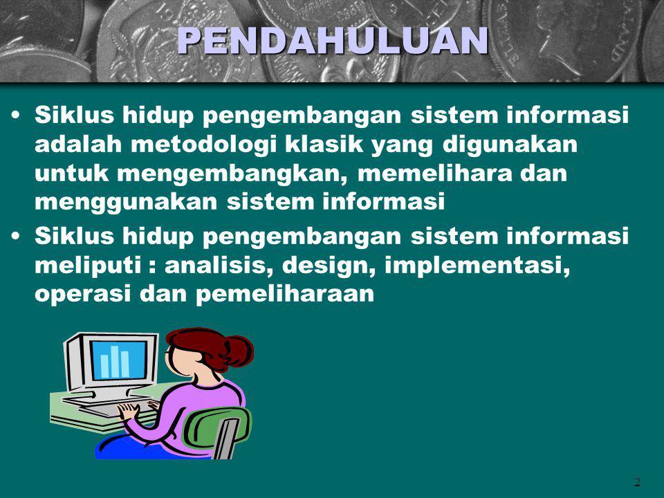 2PENDAHULUAN Siklus hidup pengembangan sistem informasi adalah metodologi klasik yang digunakan untuk mengembangkan, memelihara dan menggunakan sistem