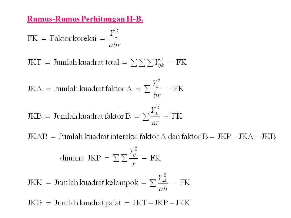 Rumus-Rumus Perhitungan II-B.