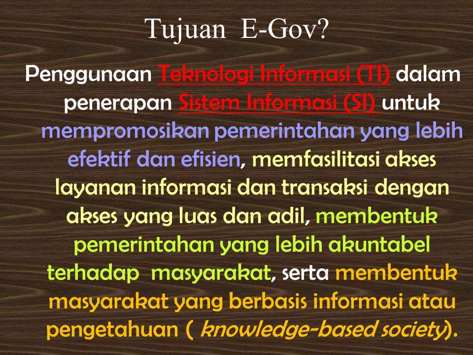 Tujuan E-Gov.