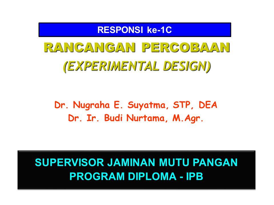 I.PERCOBAAN SATU FAKTOR C.