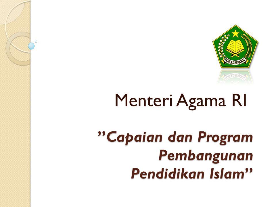 """Capaian dan Program Pembangunan Pendidikan Islam"" Menteri Agama RI"
