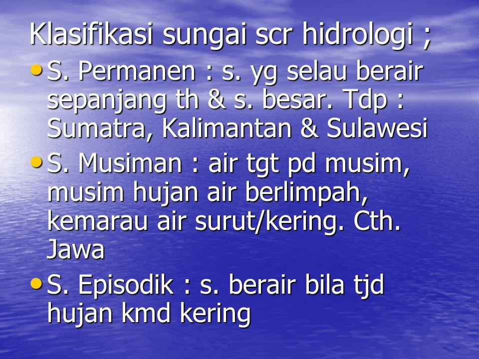Klasifikasi sungai scr hidrologi ; S.Permanen : s.