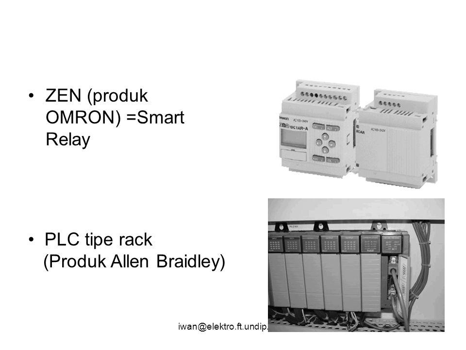 iwan@elektro.ft.undip.ac.id ZEN (produk OMRON) =Smart Relay PLC tipe rack (Produk Allen Braidley)