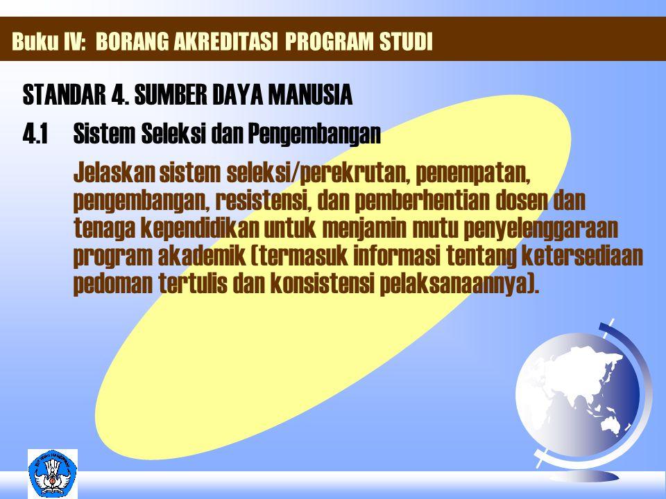 Buku IV: BORANG AKREDITASI PROGRAM STUDI STANDAR 4.
