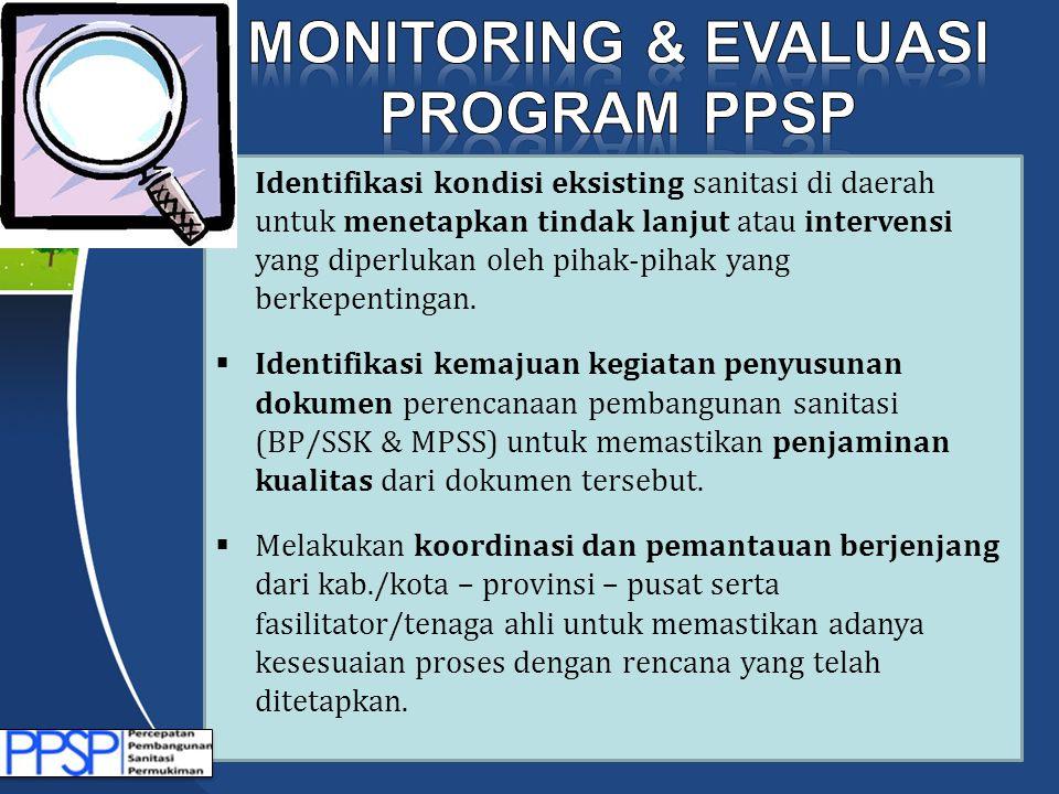  Identifikasi kondisi eksisting sanitasi di daerah untuk menetapkan tindak lanjut atau intervensi yang diperlukan oleh pihak-pihak yang berkepentinga