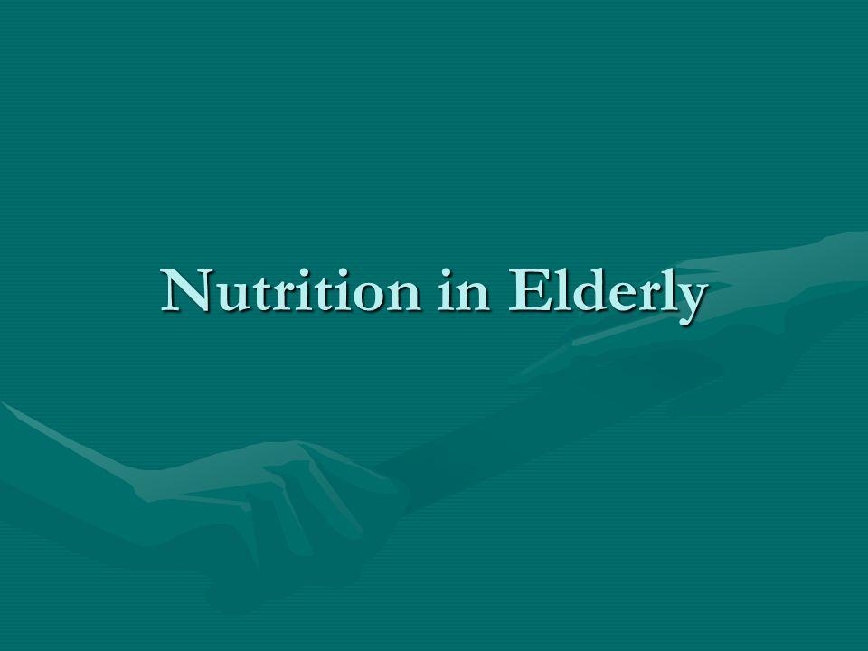 Hub gizi dg usia lanjut Berperan besar dalam longevity dan proses penuaanBerperan besar dalam longevity dan proses penuaan Percobaan pada tikus: restriksi diet   memperpanjang usia hidup Menurunkan peny kronisMenurunkan peny kronis Peningkatan konsumsi protein dan lemak: insiden kanker dan ggn organ >>> dan mempercepat proses penuaan secara fisik, biokimia dan imunologiPeningkatan konsumsi protein dan lemak: insiden kanker dan ggn organ >>> dan mempercepat proses penuaan secara fisik, biokimia dan imunologi