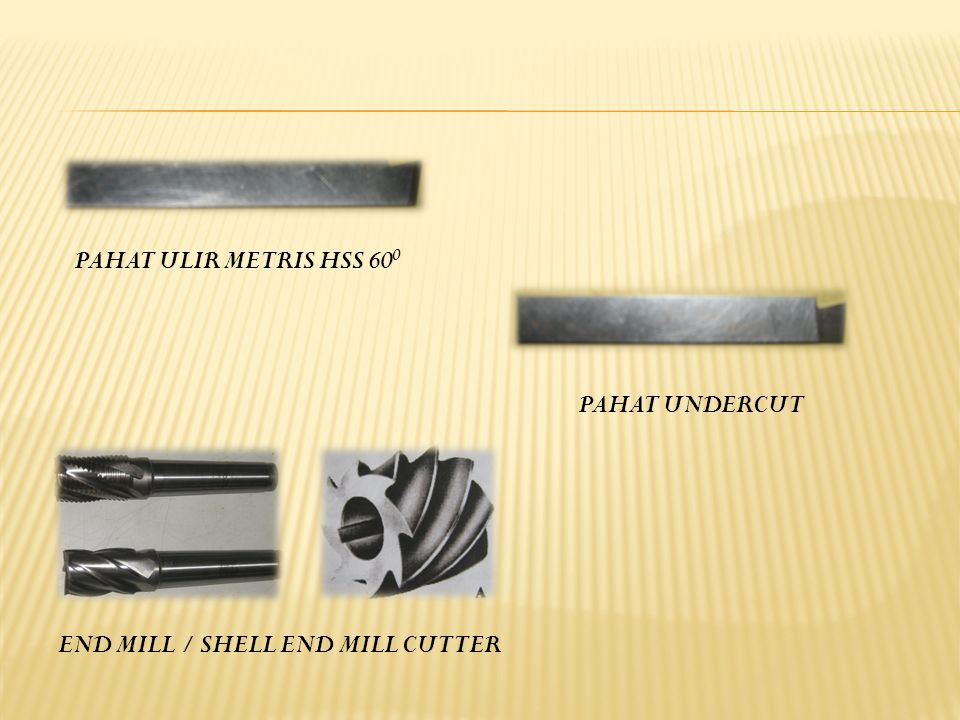PAHAT ULIR METRIS HSS 60 0 END MILL / SHELL END MILL CUTTER PAHAT UNDERCUT