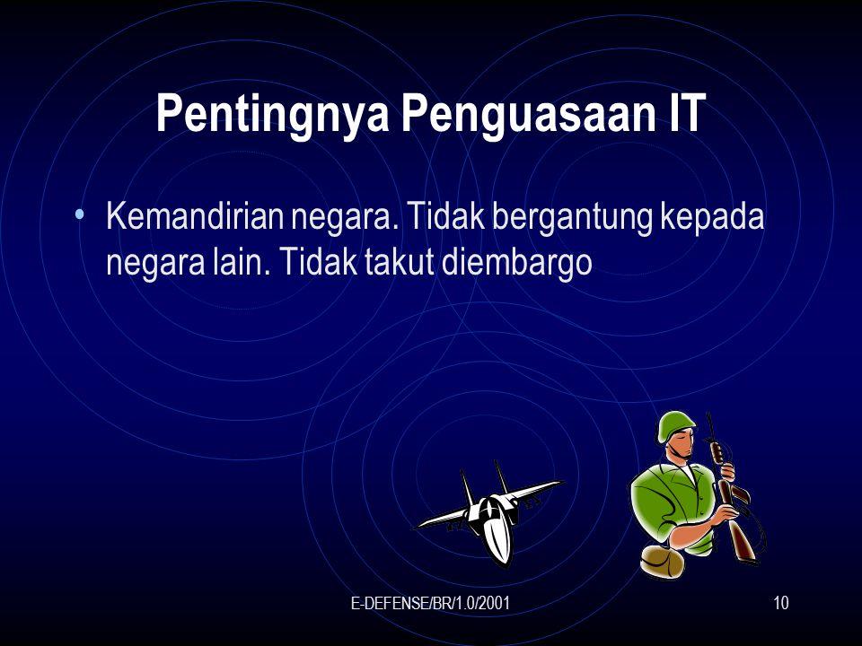 E-DEFENSE/BR/1.0/200110 Pentingnya Penguasaan IT Kemandirian negara.