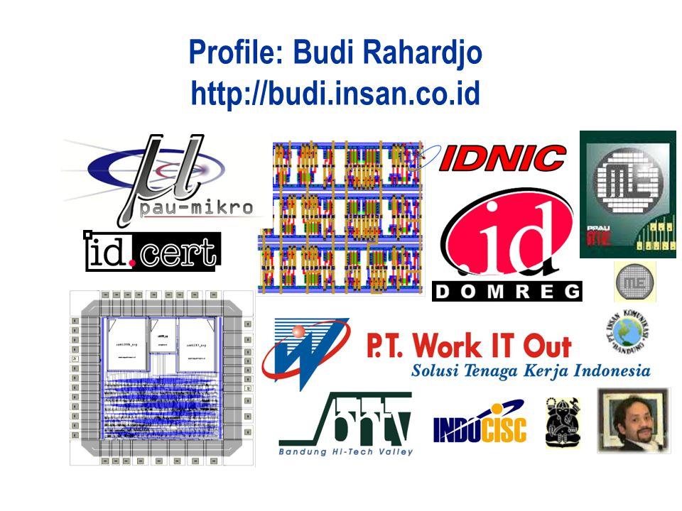 Profile: Budi Rahardjo http://budi.insan.co.id