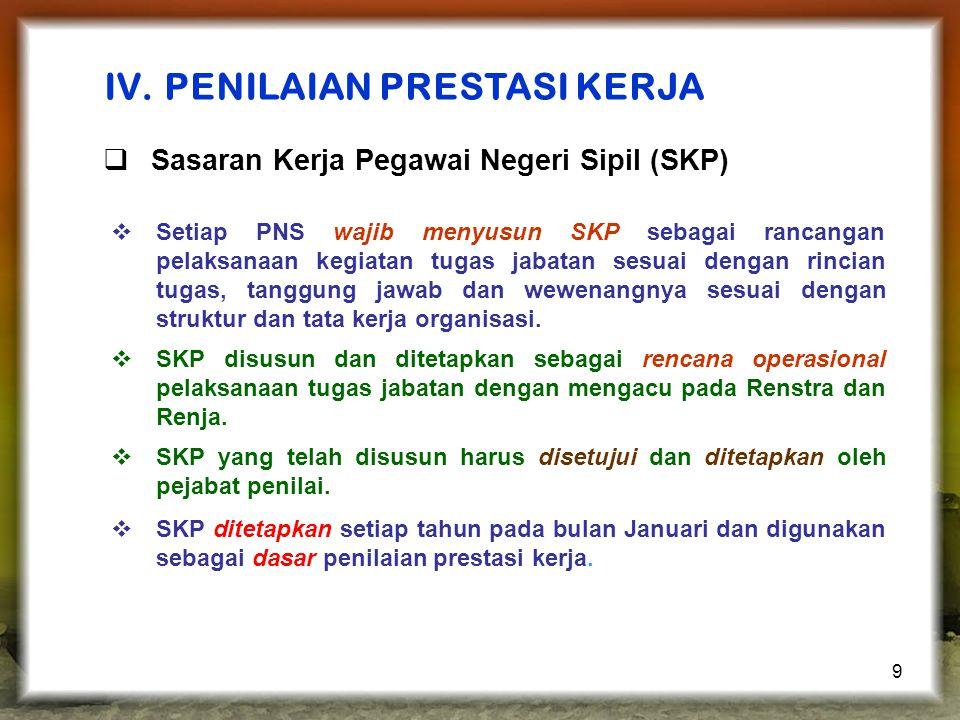 9  Setiap PNS wajib menyusun SKP sebagai rancangan pelaksanaan kegiatan tugas jabatan sesuai dengan rincian tugas, tanggung jawab dan wewenangnya sesuai dengan struktur dan tata kerja organisasi.