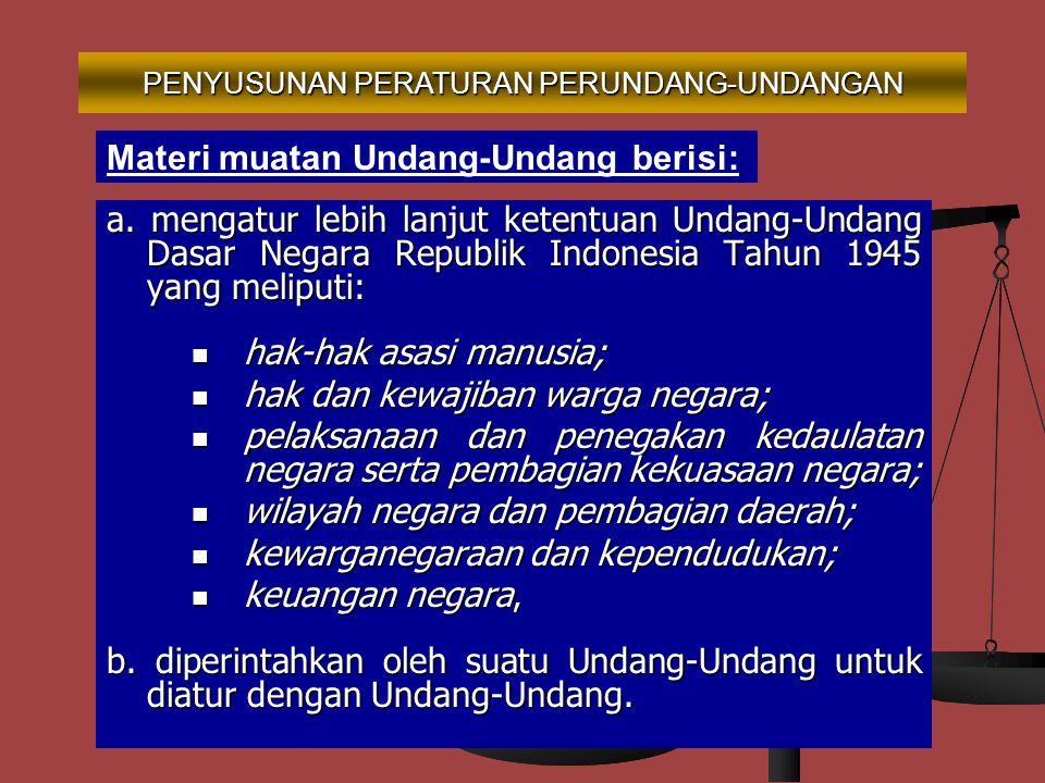 PENYUSUNAN PERATURAN PERUNDANG-UNDANGAN (4)Jenis Peraturan Perundang-undangan selain sebagaimana dimaksud pada ayat (1), diakui keberadaannya dan memp