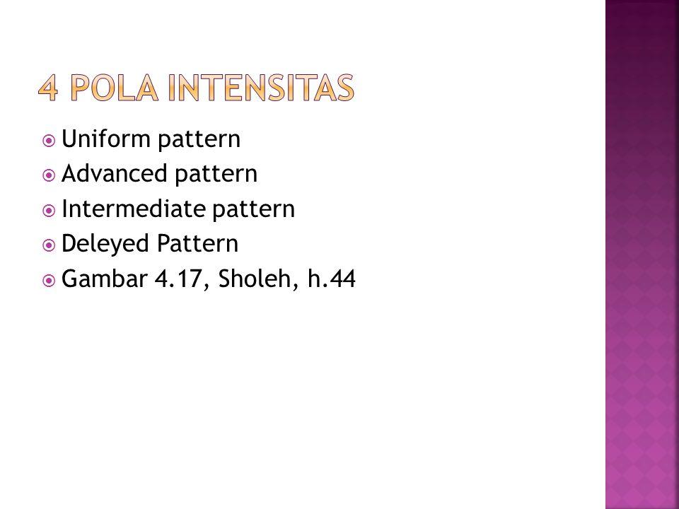  Uniform pattern  Advanced pattern  Intermediate pattern  Deleyed Pattern  Gambar 4.17, Sholeh, h.44