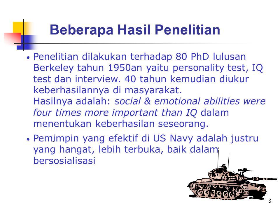 3 Penelitian dilakukan terhadap 80 PhD lulusan Berkeley tahun 1950an yaitu personality test, IQ test dan interview.