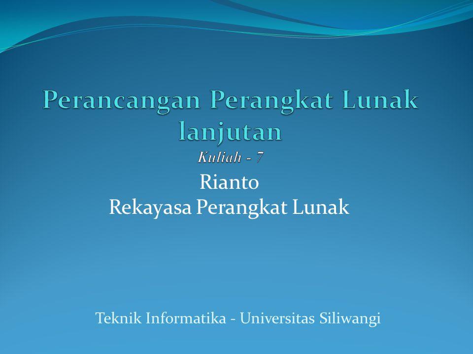 Rianto Rekayasa Perangkat Lunak Teknik Informatika - Universitas Siliwangi