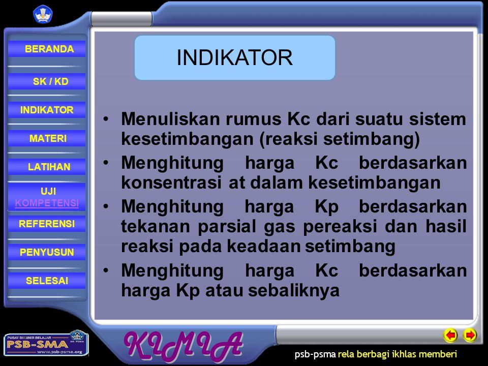 psb-psma rela berbagi ikhlas memberi REFERENSI LATIHAN MATERI PENYUSUN INDIKATOR SK / KD UJI KOMPETENSI BERANDA SELESAIPenyusun Dewi Rostika, S.Pd.