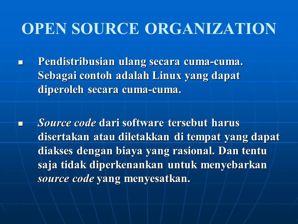 Pendistribusian ulang secara cuma-cuma. Sebagai contoh adalah Linux yang dapat diperoleh secara cuma-cuma. Pendistribusian ulang secara cuma-cuma. Seb
