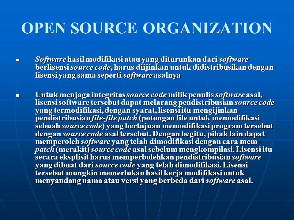 Software hasil modifikasi atau yang diturunkan dari software berlisensi source code, harus diijinkan untuk didistribusikan dengan lisensi yang sama se