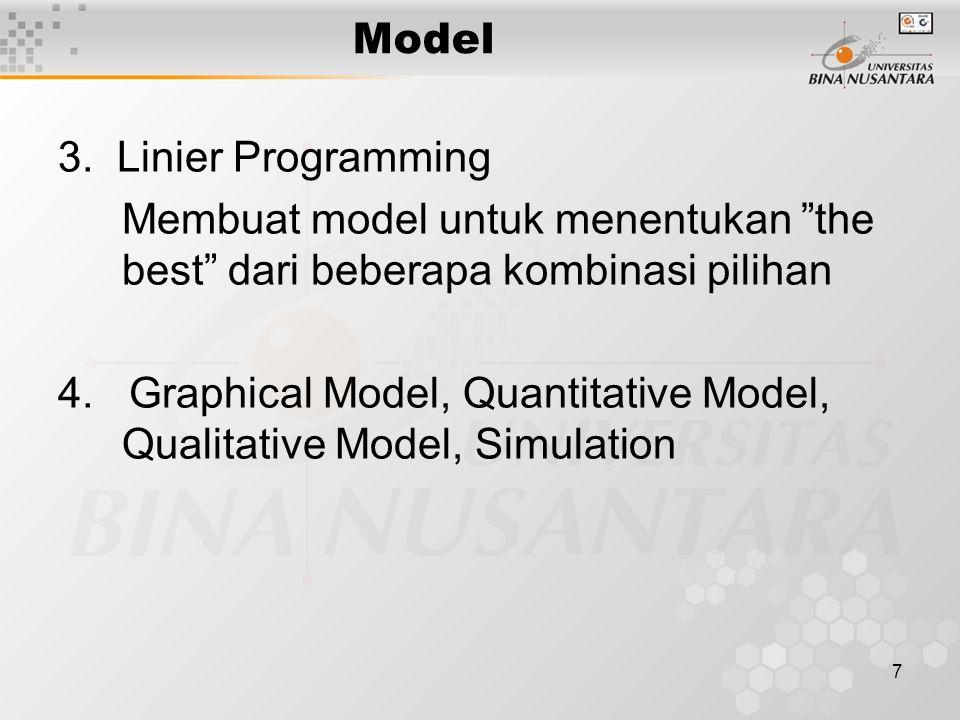 8 Influence Diagram Bentuk grafis dari model untuk membantu desain, development dan pemahaman.