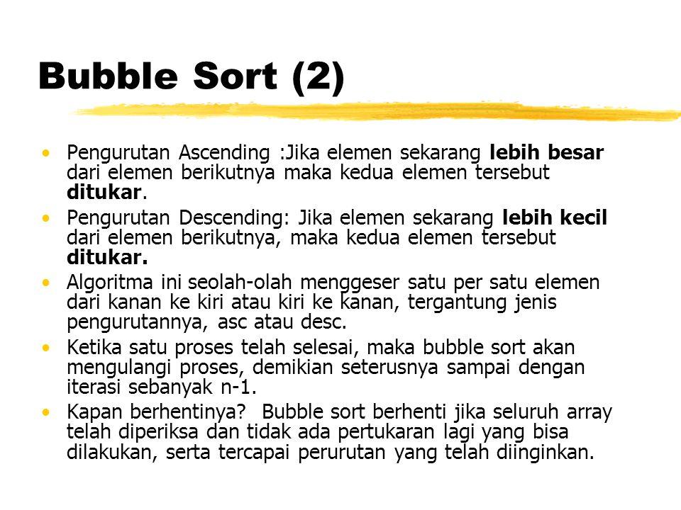 Bubble Sort (3)