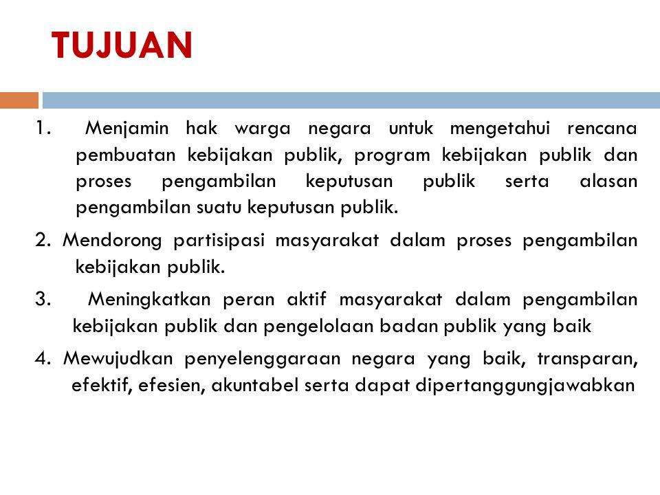 Tanggung jawab badan publik (pemerintah) (Pasal 13) 1.