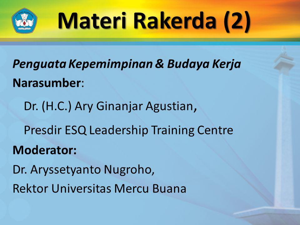 Penguata Kepemimpinan & Budaya Kerja Narasumber: Dr.