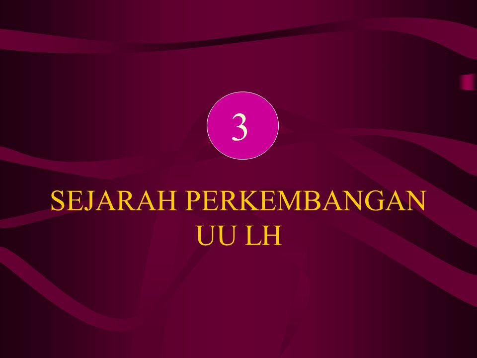 SEJARAH PERKEMBANGAN UU LH 3
