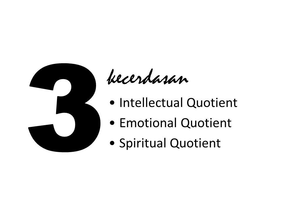 kecerdasan Intellectual Quotient Emotional Quotient Spiritual Quotient