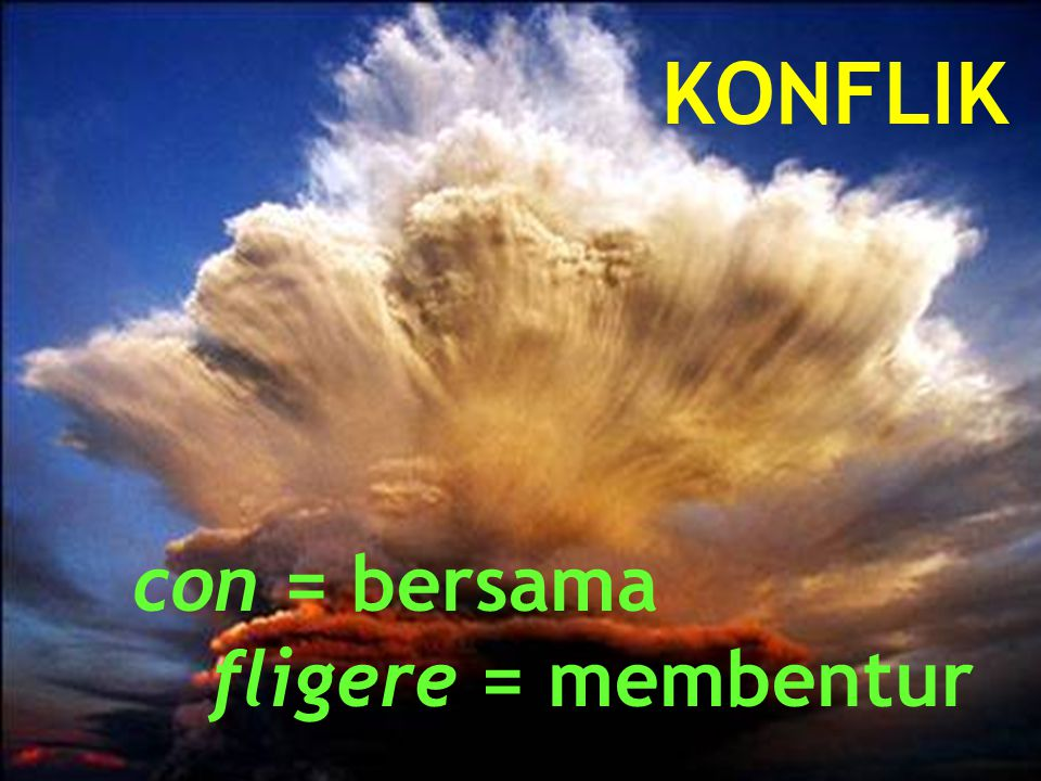 con = bersama fligere = membentur KONFLIK