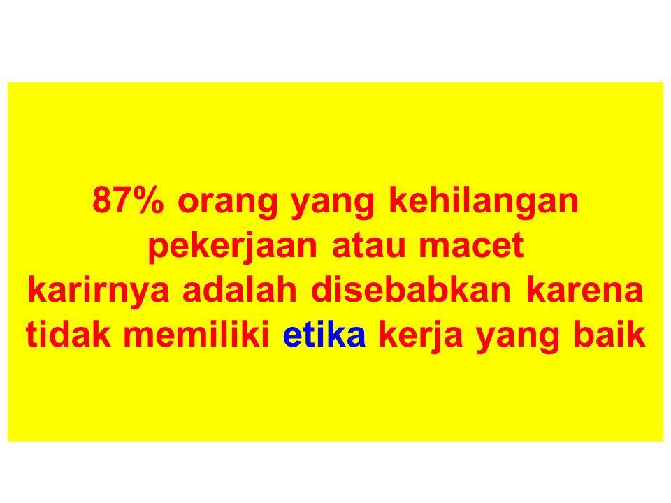 Teacher Education Summit Jakarta, 14-16 December 2011 87% orang yang kehilangan pekerjaan atau macet karirnya adalah disebabkan karena tidak memiliki