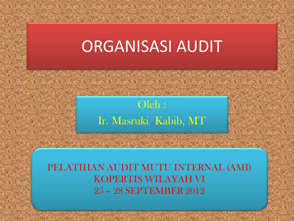 PERAN DAN TANGUNG JAWAB MANAJEMEN (REKTOR/KETUA/DIREKTUR/DEKAN) 1.Menugaskan staf sebagai ketua bidang/manajer AMI 2.Mengesahkan program audit tahunan (kalender sistem penjaminan mutu) 3.Mendukung dan menyediakan sumberdaya untuk pelaksanaan audit 4.Melakukan kajiulang dan menyempurnakan kebijakan manajemen (program kerja tahunan) 1.Menugaskan staf sebagai ketua bidang/manajer AMI 2.Mengesahkan program audit tahunan (kalender sistem penjaminan mutu) 3.Mendukung dan menyediakan sumberdaya untuk pelaksanaan audit 4.Melakukan kajiulang dan menyempurnakan kebijakan manajemen (program kerja tahunan)