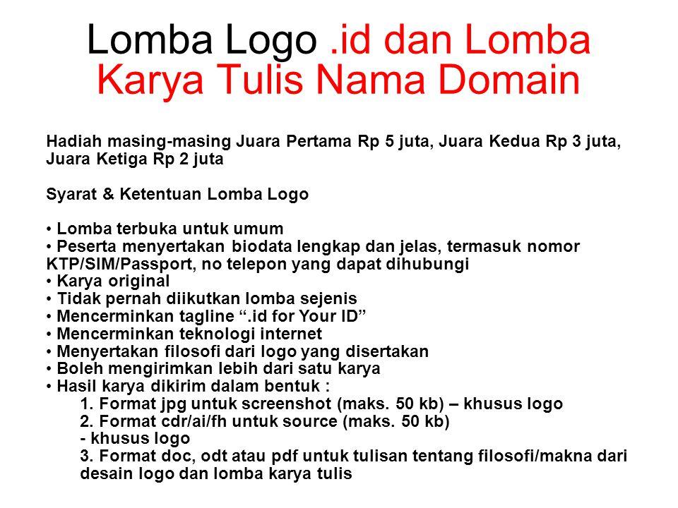 Lomba Logo.id dan Lomba Karya Tulis Nama Domain 1.