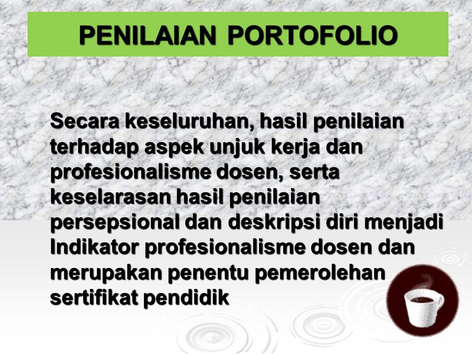CIRI-CIRI PENILAIAN PORTOFOLIO 1.