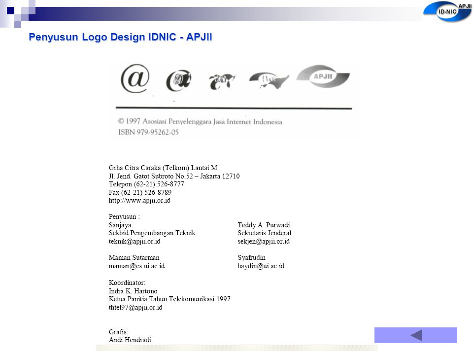 Penyusun Logo Design IDNIC - APJII