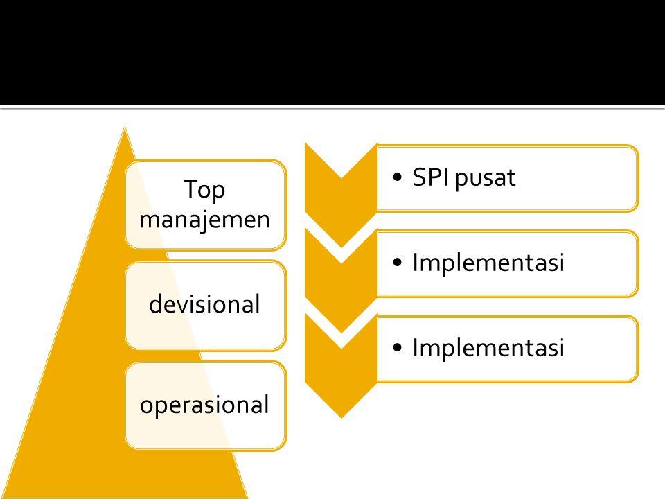Top manajemen devisionaloperasional SPI pusatImplementasi