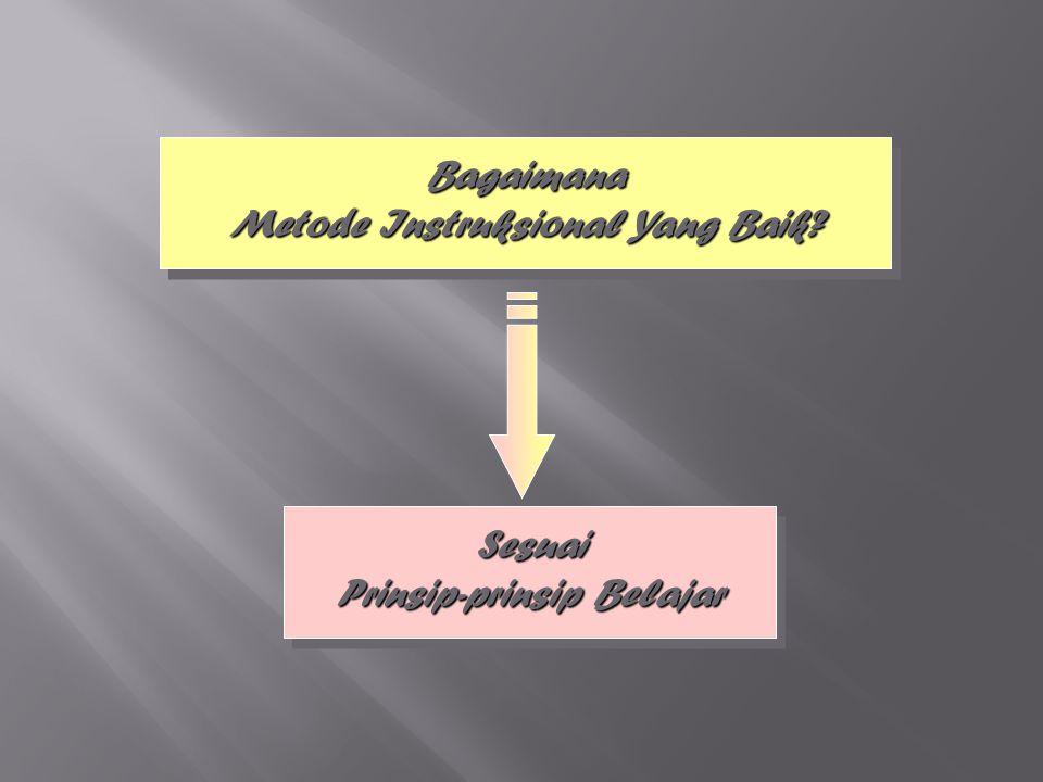 55 Bagaimana Metode Instruksional Yang Baik? Sesuai Prinsip-prinsip Belajar