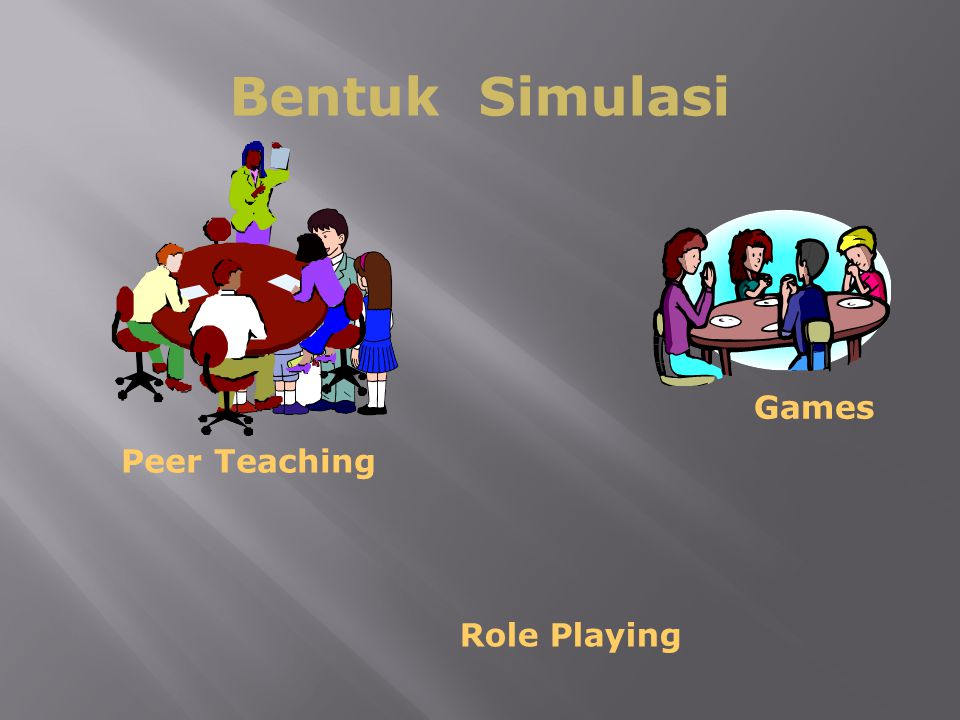 63 Bentuk Simulasi Role Playing Peer Teaching Games
