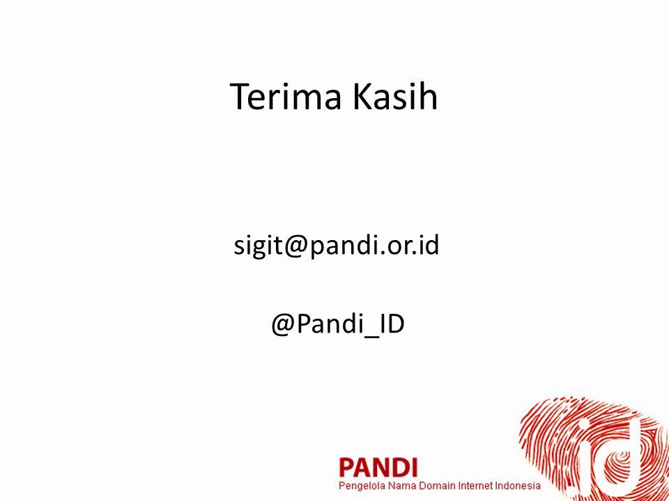 Terima Kasih sigit@pandi.or.id @Pandi_ID