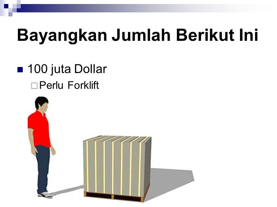 Bayangkan Jumlah Berikut Ini 100 juta Dollar  Perlu Forklift