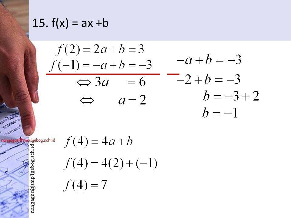 15. f(x) = ax +b