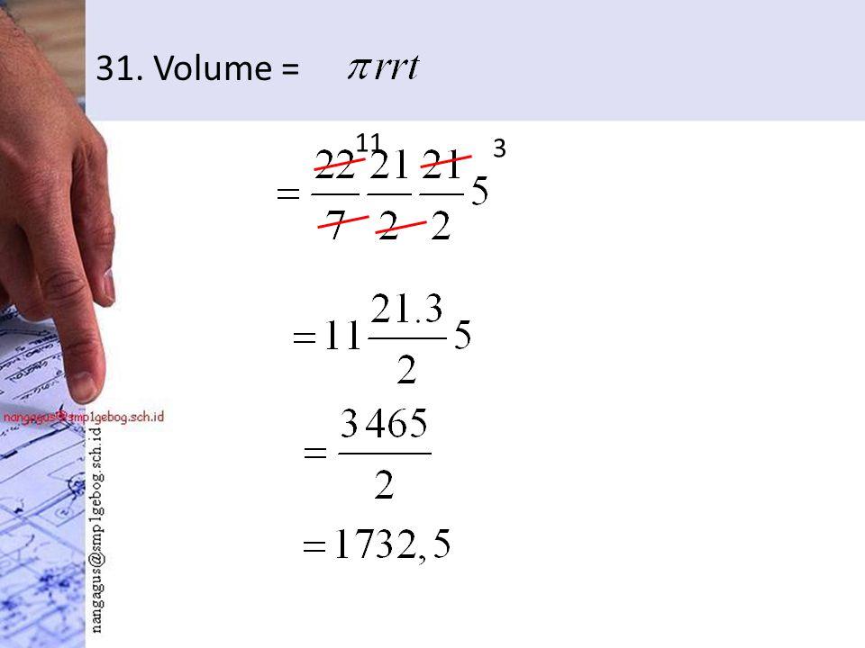 31. Volume = 3 11