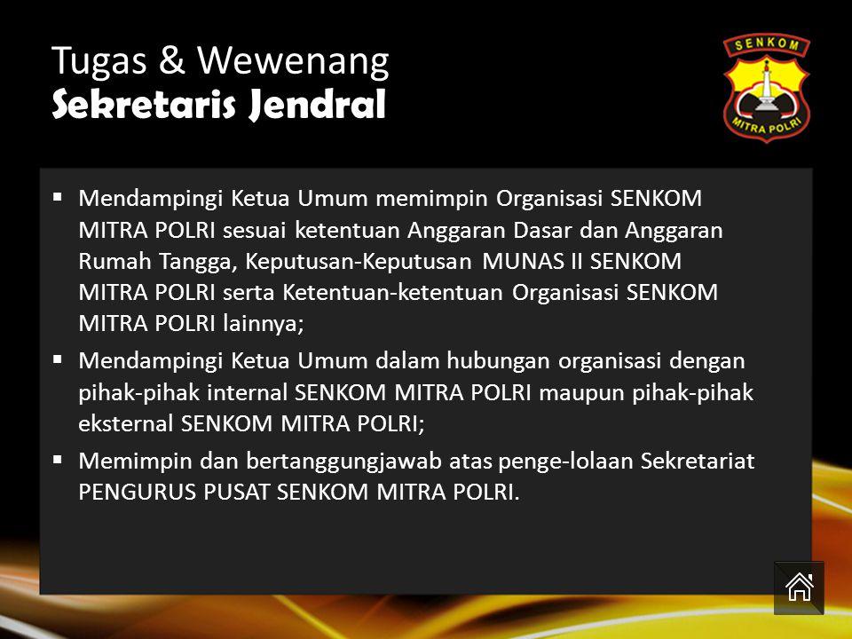 Siapakah Sekretaris Jendral Senkom??? H. Arif Nurokhim, S.H Tugas & Wewenang Sekretaris Jendral