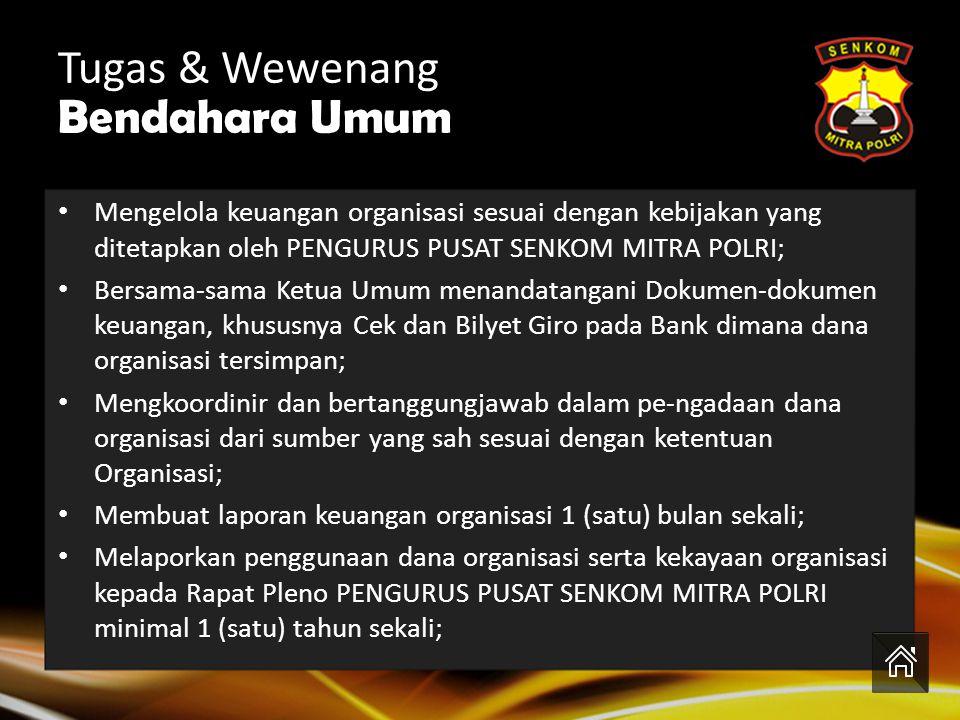Tugas & Wewenang Bendahara Umum H. Asep Wahdiana, S.Kom.